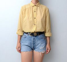 SOLD OUT! Vintage blouse with peter pan collar by #ZvezdanaVintage, $28.00
