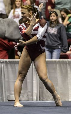 Alabama Gymnastics vs Oklahoma Women's Gymnastics, Gymnastics Posters, Chalk Talk, Female Gymnast, University Of Alabama, Gymnasts, Alabama Crimson Tide, Roll Tide, Female Athletes
