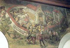 Le dit des morts reconnaissants peinture murale dans l'ossuaire de Baar en Suisse restauré et modifié en 1740