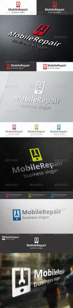 Mobile Repair  - Logo Design Template Vector #logotype Download it here: http://graphicriver.net/item/mobile-repair-logo-template/6662105?s_rank=59?ref=nesto