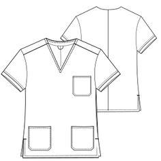 f378202eeb Chaqueta medico 2951   Camisas   UNIFORMES   Patrones Industriales de Moda