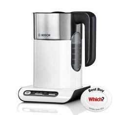 Bosch Styline TWK8631GB Temperature Control White Kettle | Dunelm