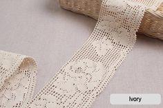 "1Yds Crochet Knite  Vintage Style wedding Cotton lace 1.4/"" yh017 laceking2013"