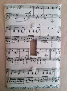 Music Notes Light Switch and Plug Outlet Plate by QuisCreations, $5.50