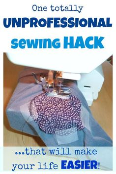 I used a totally unprofesional sewing hack when sewing a jersey patch on a…