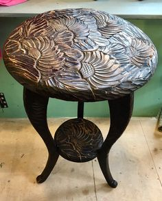 Excited to share this item from my shop: Liberty of london japanese carved table 1905 carved by Japanese fishermen