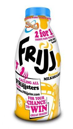 FoodBev.com   Innovations   Frijj milkshake features on-pack Thorpe Park promo