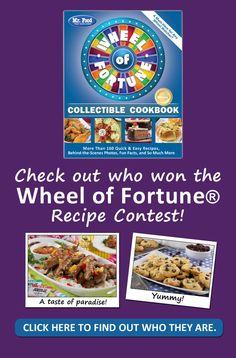 fortune wheel food cookbook recipe contest kitchen winners recipes test mrfood