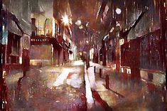 Cd Cover Design, Rainy Night, Contemporary Wall Art, City Streets, Oil Painting On Canvas, Large Prints, Online Art Gallery, Canvas Frame, Fine Art America