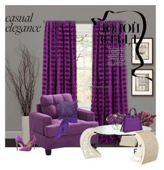"""Purple"" by sophiajamdown on Polyvore featuring interior, interiors, interior design, home, home decor, interior decorating, Lush Décor, Torre & Tagus, John-Richard and Steve Madden"