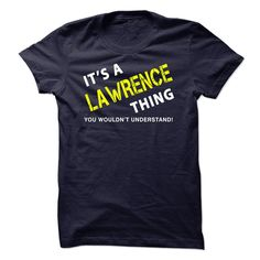 It is a LAWRENCE Thing Tee