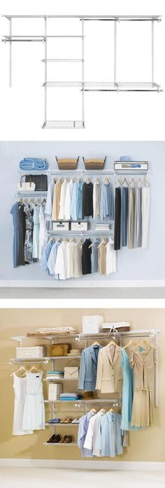 4 Ft. - 8 Ft. Configurations White Deluxe Custom Closet Kit