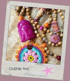 Ketten lang - Kette ☮ Buddha ☮ Love Peace Happiness Crochet - ein Designerstück von charm_one bei DaWanda