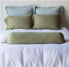 Buy Linen Bolster Body Pillow online with free shipping from thegardengates.com