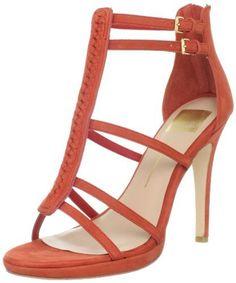 Dolce Vita Women's Camila T-Strap Sandal,Red