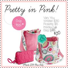 Thirty-One Gifts Pretty in Pink Bundle $55* http://www.mythirtyone.com/jenwillett