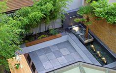 50+ ideas for small garden design Modern Courtyard, Small Courtyard Gardens, Small Courtyards, Small Backyard Gardens, Small Backyard Landscaping, Modern Landscaping, Landscaping Ideas, Desert Backyard, Sloped Backyard
