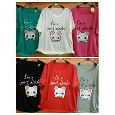 Saya menjual Kaos wanita / motif jumbo sweet cat / kaos lengan pendek wanita / XXL seharga Rp55.000. Dapatkan produk ini hanya di Shopee! https://shopee.co.id/ssfashionkaos/296103587/ #ShopeeID