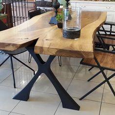 metal-ayak-ağaç-masa #ağaçmasa #metalayak #masa #yemekodası