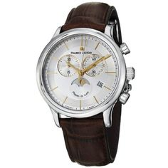Men's Wrist Watches - Maurice Lacroix Mens LC1148SS001132 Les Classiqu Silver Chronograph Dial Watch >>> Want additional info? Click on the image. (This is an Amazon affiliate link)