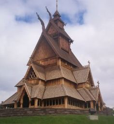 "Stave Church of Norway ""Stavkirke""  or ancient wooden churches of Norway. The ancient pine of Norway so resilient that some have lasted for 5 to 6 centuries."