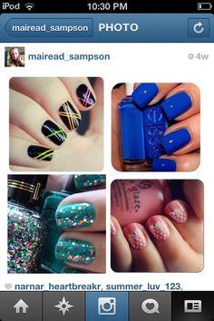 4 cute nail ideas I love them