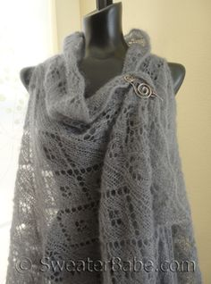 #170 Judith Shawl Vest PDF Knitting Pattern SweaterBabe.com