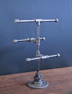 Industrial+Pipe+3+Tier+Jewelry+Stand+by+IndustrialHomeBazaar,+$65.00