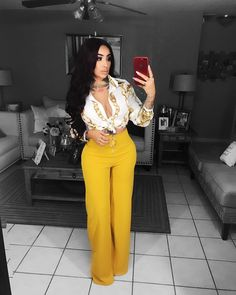 """""""Willow Wide Leg Pants"""" -Mustard from Business Casual Outfits, Classy Outfits, Stylish Outfits, Beautiful Outfits, Fall Outfits, Fashion Outfits, Womens Fashion, Modelos Fashion, Vetement Fashion"""