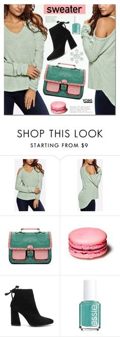 """""""Sweater Wether"""" by mada-malureanu ❤ liked on Polyvore featuring Essie, sweaterweather, yoins, yoinscollection and loveyoins"""