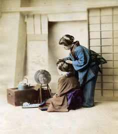 Hairdressing by Felice Beato