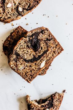 I am back, back, back from vacation and while I do kind of wish I was  currently sitting on a boat, sipping coffee and reading, waiting until the  sun was up just enough to put on my swimsuit and lay on the boat some more,  I guess being here and telling you about this banana bread is pretty  alright too. Especially since I made it before we left for vacation and I  have been waiting and waitingto share it!  I have a very special place in my heart for banana bread/muffins. Not  actually…