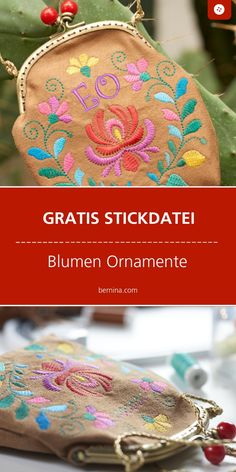 Ornamente sticken: kostenlose Stickdatei mit Anleitung You are in the right place about DIY Fabric Flowers earrings Here we offer you the most beautiful pictures about the DIY Fabric Flowers realistic