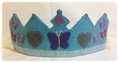 Felt Butterfly Tiara Waldorf Inspired Birthday by Spellingfelt