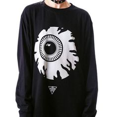 2d6b953a0f8 Harajuku fashion funny eye sweater from Harajuku fashion