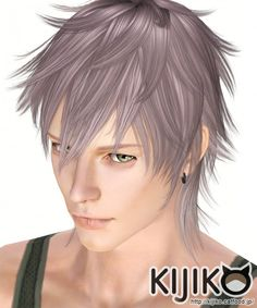 Werewolf hair for males by Kijiko - Sims 3 Downloads CC Caboodle