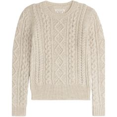 Isabel Marant Etoile Wool Pullover (425 NZD) ❤ liked on Polyvore featuring tops, sweaters, beige, pink pullover, pink pullover sweater, chunky wool sweater, beige top and slim fit sweater