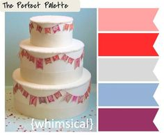 The Perfect Palette: {Creative Color Idea}: Vintage Stamp Bunting