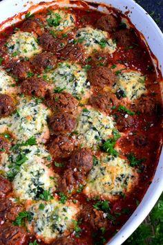Ricotta Balls Recipe, Ricotta Cheese Recipes, Baked Ricotta, Spinach Recipes, Potluck Recipes, Pasta Recipes, Beef Recipes, Dinner Recipes, Cooking Recipes