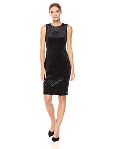 Calvin Klein Womens Velvet Burnout Dress Black 14 * Read more at the image link-affiliate link. Size 16 Dresses, Formal Dresses, Metallic Dress, Calvin Klein Women, Princess Seam, Sheath Dress, Womens Fashion, Clothes, Velvet Dresses