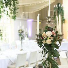 Elegant #candelabra at @kilshanehouse #weddingflowers #weddingtable #irishwedding #irishflorist #tipperarywedding  #bloomsdayflowers