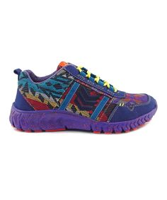 This Rainbow Woodstock Wolfstar Sneaker by TigerBear Republik is perfect! #zulilyfinds