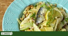 Pasta con hinojo y sardinillas Asparagus, Nom Nom, Seafood, Cabbage, Favorite Recipes, Meat, Chicken, Vegetables, Cooking