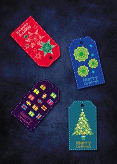 Printable Christmas tags Holiday gift tags by LalaMcWonderland
