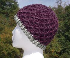 Crochet Lattice Beanie Hat - Free Pattern