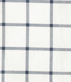 $12  CONSCIOUS. Checked duvet cover set in organic cotton. One pillowcase. Thread count 144. Size 43 x 49 in.