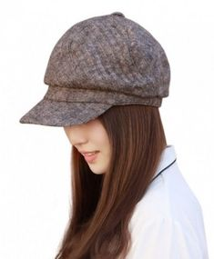 e0205044 Home Prefer Womens newsboy Hat Vintage Beret Cap Fashion Skull Cap With  Visor - Coffee -