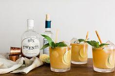 Citrus Bourbon Smash cocktail on Waiting on Martha