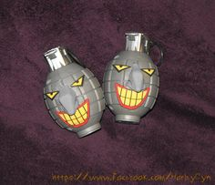 Joker face HARLEY QUINN Grenade toy prop bomb weapon from Batman the Animated Series costume accessory by 4thWallReplicas on Etsy https://www.etsy.com/listing/481811393/joker-face-harley-quinn-grenade-toy-prop