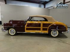 1948 Chrysler Town and Country Convertible Burgundy 8 Cylinder Automatic